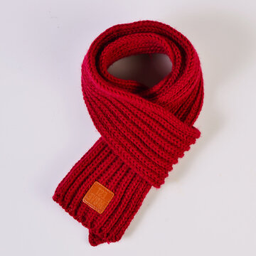 Kids Winter Knitted Scarves For 0-5 Years