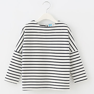 Girls Stripe Cotton T-shirt