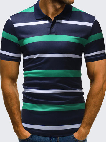 Business Casual Striped Golf Shirts