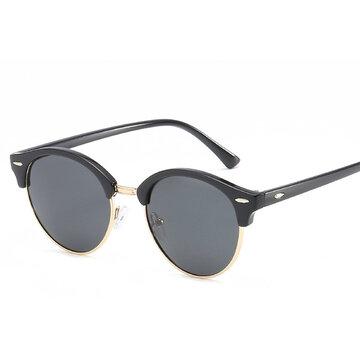 أزياء فخمة UV400 في الهواء الطلق ظلال ريترو جولة النظارات الشمسية