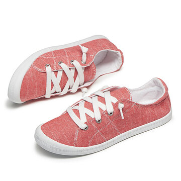 Canvas Flat Court Sneakers