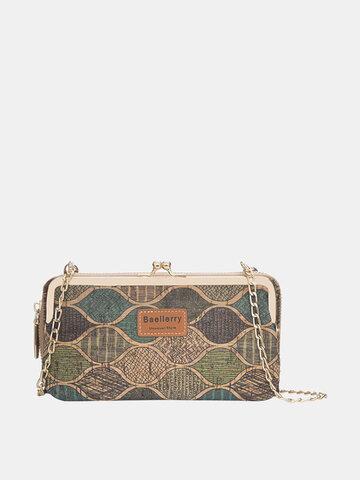 女性8カードスロットプリント電話バッグ