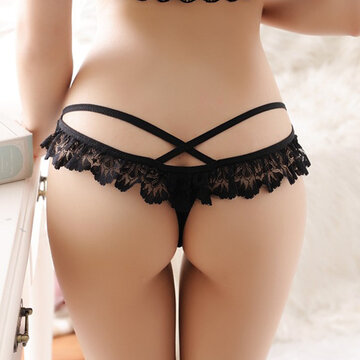 Sexy Hollow See Through Lace Thongs