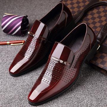 Men Microfiber Leather Formal Dress Shoes