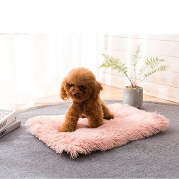 4 Colors Long Plush Pet Sleeping Mat