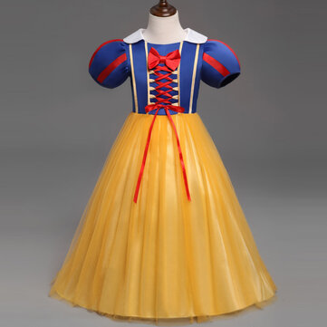 Robe de princesse snow white cosplay pour fille de 0-8 ans