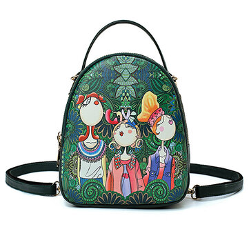 Women Forest Print Bohemian Multi-function Bags