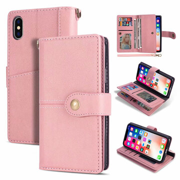 Women Solid Multi-function Phone Case For Iphone 4 Card Slot