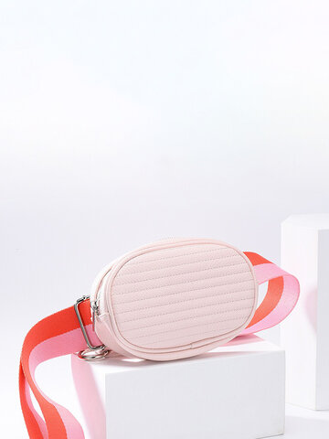 Women Faux Leather Fanny Pack Crossbody Phone Bag