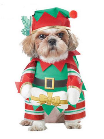Pet Dog And Cat Christmas Suit Santa Claus Dressing