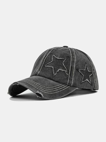 ユニセックススターパッチホール野球帽