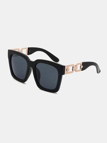 نظارة شمسية رجالية بإطار مربع عريض