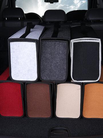 7 Styles Felt Car Storage Bag Multi-Function Trunk Car Supplies Tail Box