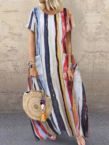 Multi Color Graffiti Dress