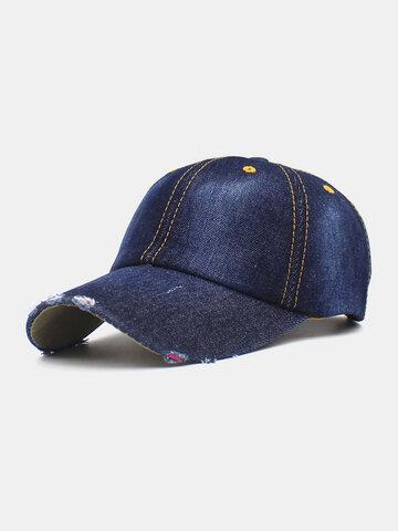 قبعة بيسبول دينيم ممزقة للجنسين