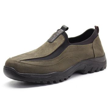 Men Fabric Soft Sole Casual Hiking Sneakers