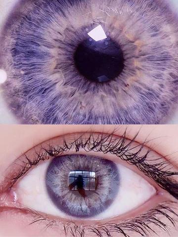 US WAREHOUSE 2 Pcs DNA Pink Violet Contact Lenses