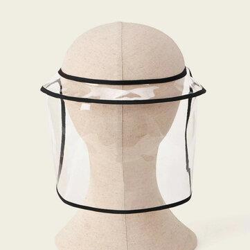 PVC Cover Face Spray Dust-proof Detachable Sun Visor