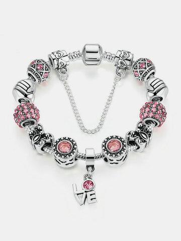 Charm Crystal Glass Beads Bracelet