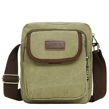 Casual Outdoor Man's Bag Multifunctional Square Shoulder Bag Canvas Crossbody Bag