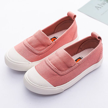 Unisex Kids Slip On Canvas Обувь
