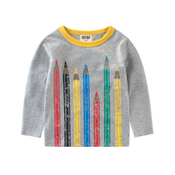 Pencil Printed Boys T Shirt For 2Y-12Y