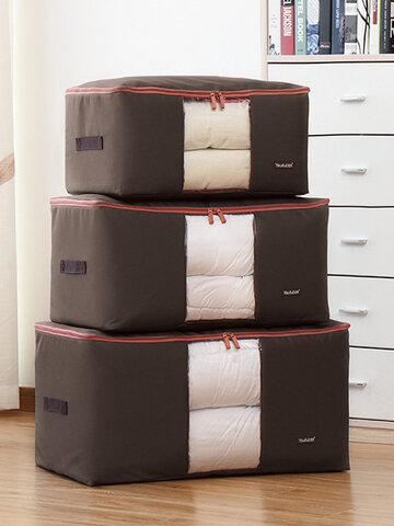 1 PC Washable Quilt Storage Bag Cloth Large Window Seamless Storage Bag Luggage Moving Bag Household Storage Bag