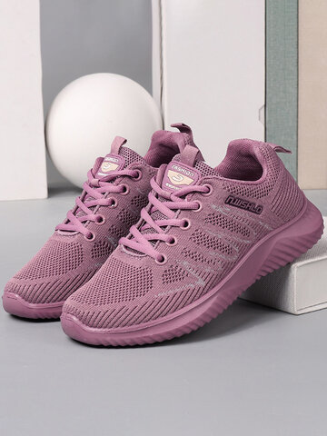 Women Breathable Round Toe Walking Shoes