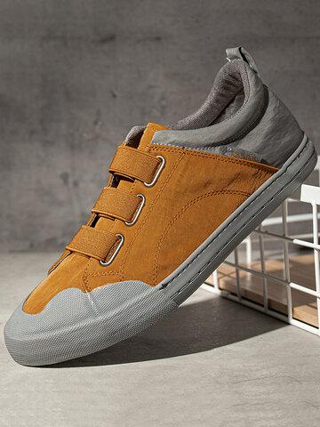 Men Fabric Non Slip Elastic Band Casual Shoes