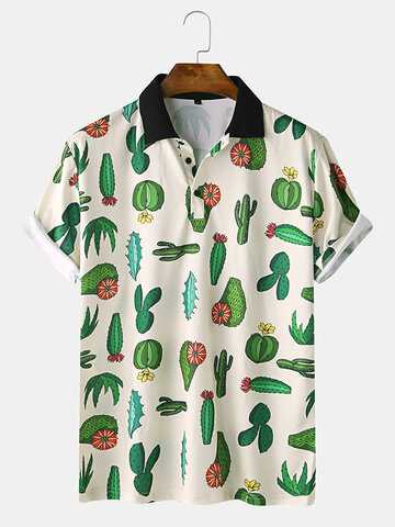 Cactus Pattern Fun Home Casual T-Shirt