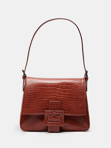Alligator Pattern Shoulder Bag