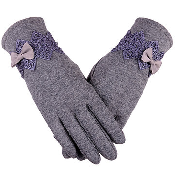 Womens Touching Screen Velboa Gants chauds