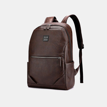 PU Leather Business Large Capacity 15.6 Inch Laptop Bag Multifunction Backpack