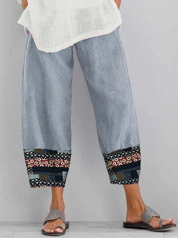 newchic / Print Casual Pants