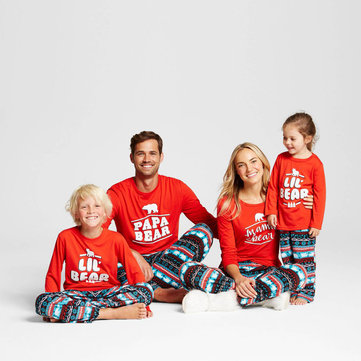 2Pcs Family Matching Pajama Set