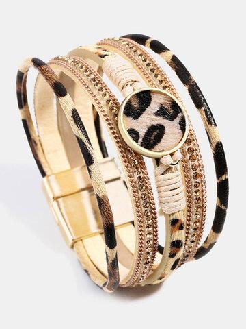 Leopard Horsehair Yoga Bracelet
