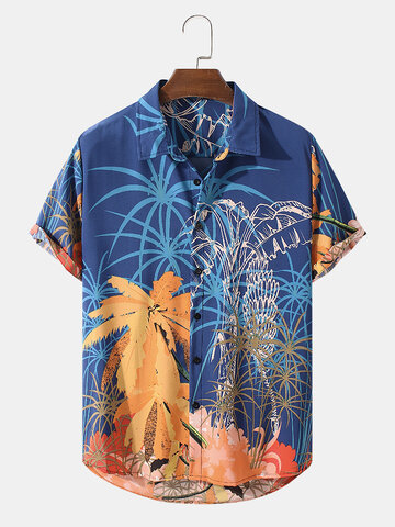 Coconut Tree Landscape Print Shirt