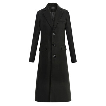 Thickened Warm Long Woolen Trench Coat