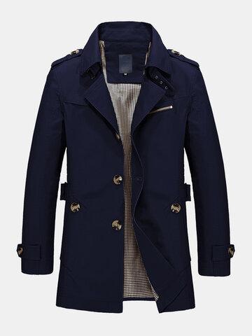 コットンシングルブレストベルトジャケット