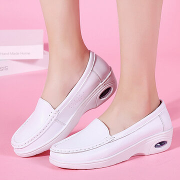 Pure White Soft Cushioned Loafers