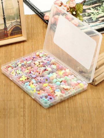 24 Grid Box DIY Acrylic Handmade String Beads Educational Jewelry