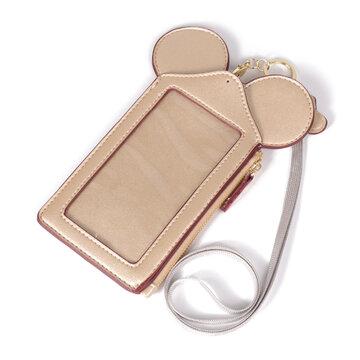 Touch Screen Cartoon Cute Shape Phone Bag Card Holder