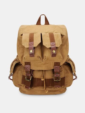 Men Canvas Outdoor Travel Camera Bag Vintage Casaul Backpack