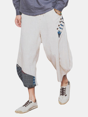 Ethnic Style Printed Calf Length Harem Pants