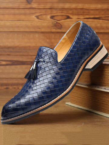 Men Brogue Style Casual Business Shoes