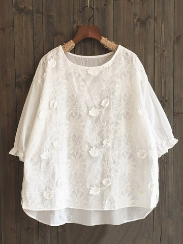 Cute Embroidery Shirt