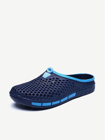 Men Hollow Breathable Soft Sandals