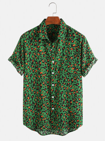 Leopard Print Breathable Shirts