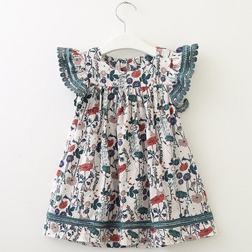 Flower Girls Casual Dress para 2-11Y