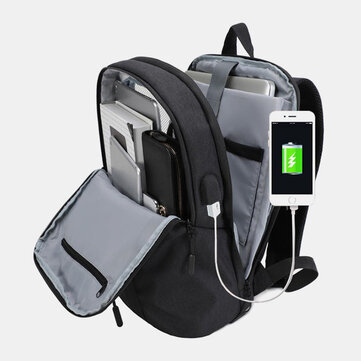 Men 15.6 Inch USB Charging Business Laptop Bag